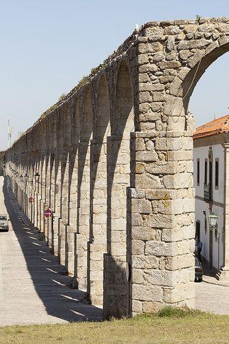 Eighteenth century aqueduct at Vila do Conde, Portugal - Aqueduto do Século XVIII em Vila do Conde, Portugal