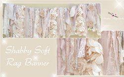 Soft Shabby Chic Garland Rag Tie Banner: