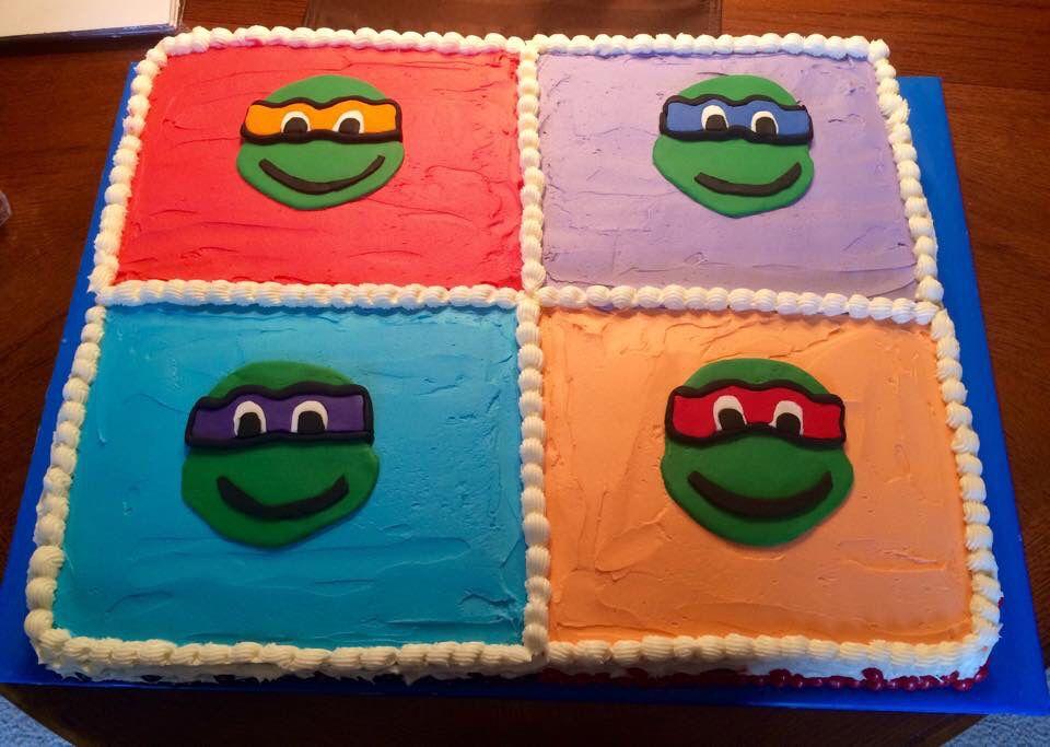 Ninja Turtle Sheet Cake. Twofoodiesandacat.com Facebook ...