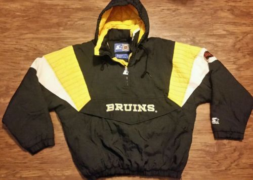 Boston Bruins Starter Jacket Vintage NHL Parka Coat Pullover Hockey Chara Mens  L 61512eaeb