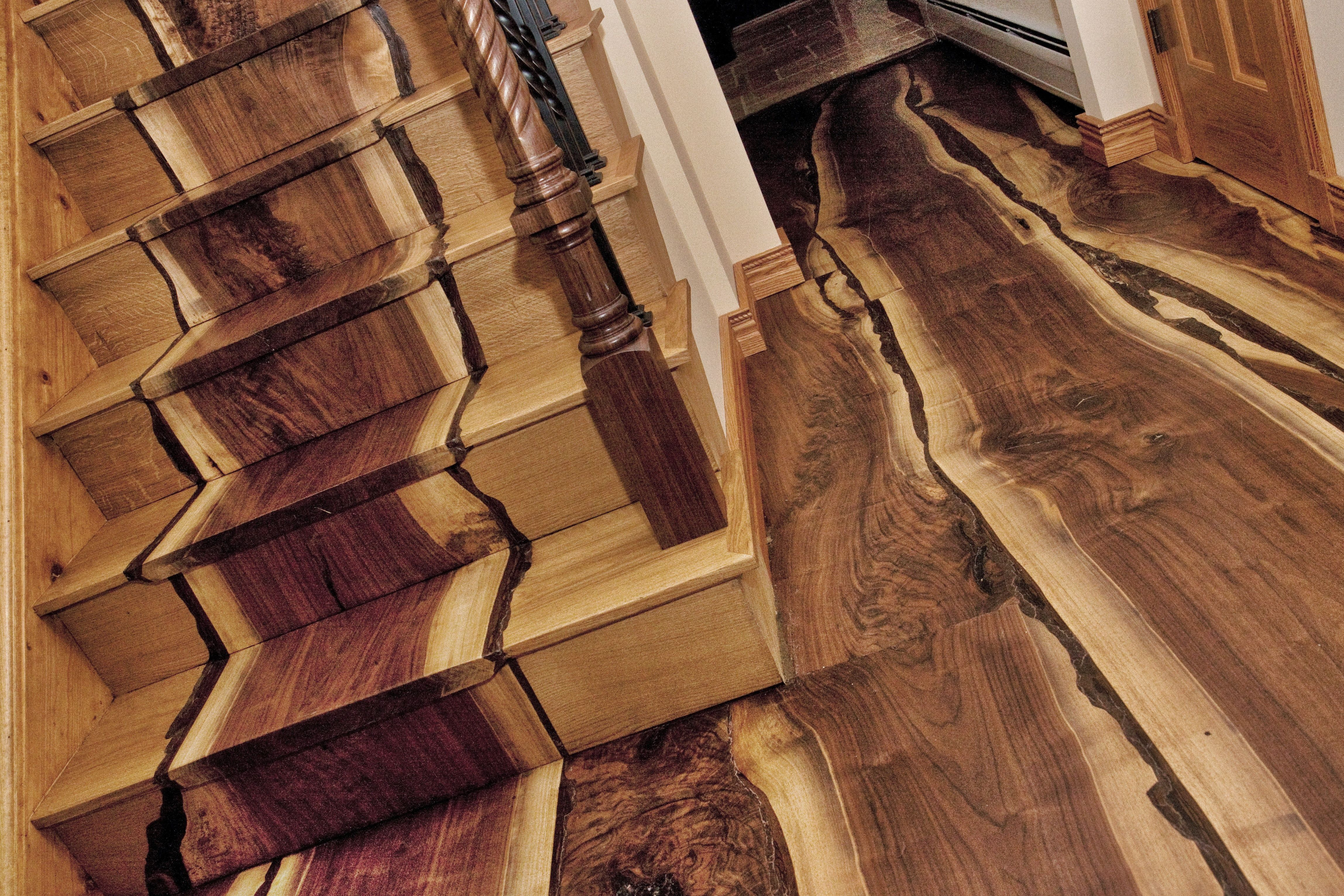 Best This Floor Was Created From Black Walnut Trees That Had 400 x 300