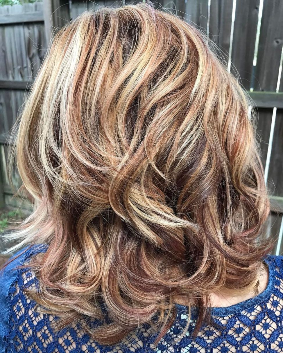 Medium Layered Hairstyle For Thick Wavy Hair Thick Wavy Hair Thick Hair Styles Medium Layered Hair