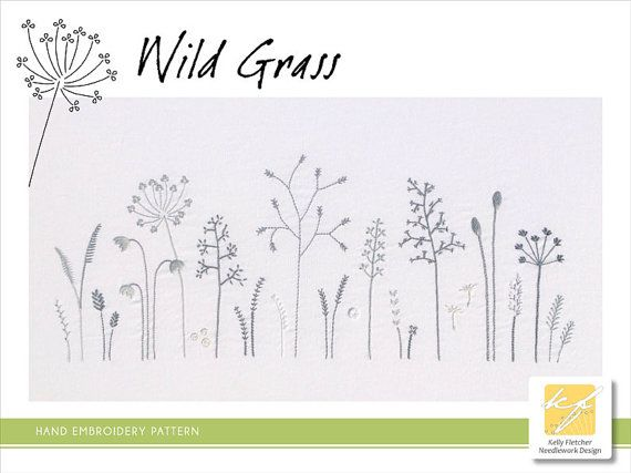 Wild Grass Hand Embroidery Pattern Modern Embroidery Nature