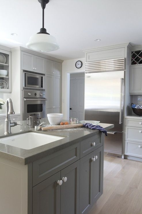Von Fitz Design - kitchens - Benjamin Moore - Brushed Aluminum ...