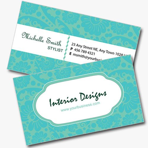 Double Sided Interior Design Business Card Interior Design Business Interior Designer Business Card Business Design
