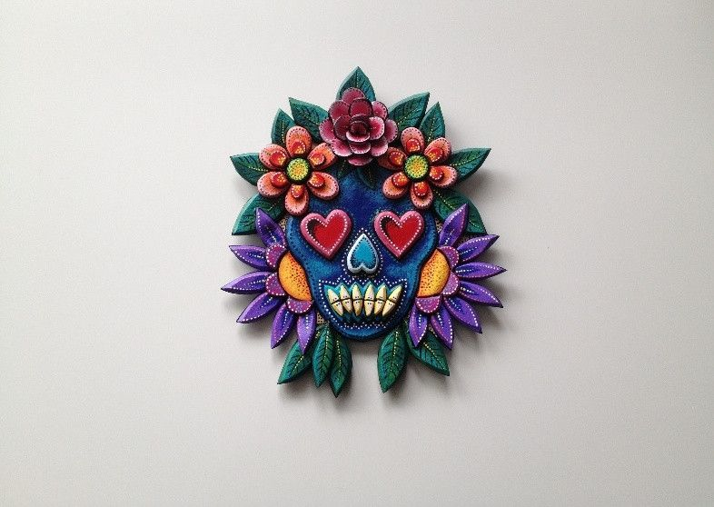 2013 WETA Workshop Section Award-winning designer Gillian Saunders replicates details in these beautiful #wall tattoos, inspired by her garment 'Inkling'. The perfect Xmas gift for #art, #fashion and #design enthusiasts. #skull