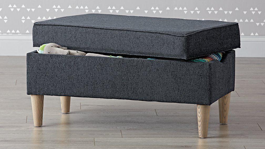 Aiden Eclipse Upholstered Storage Bench