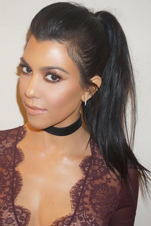 ponytail hairstyles: a-list inspiration | high ponytails, kourtney
