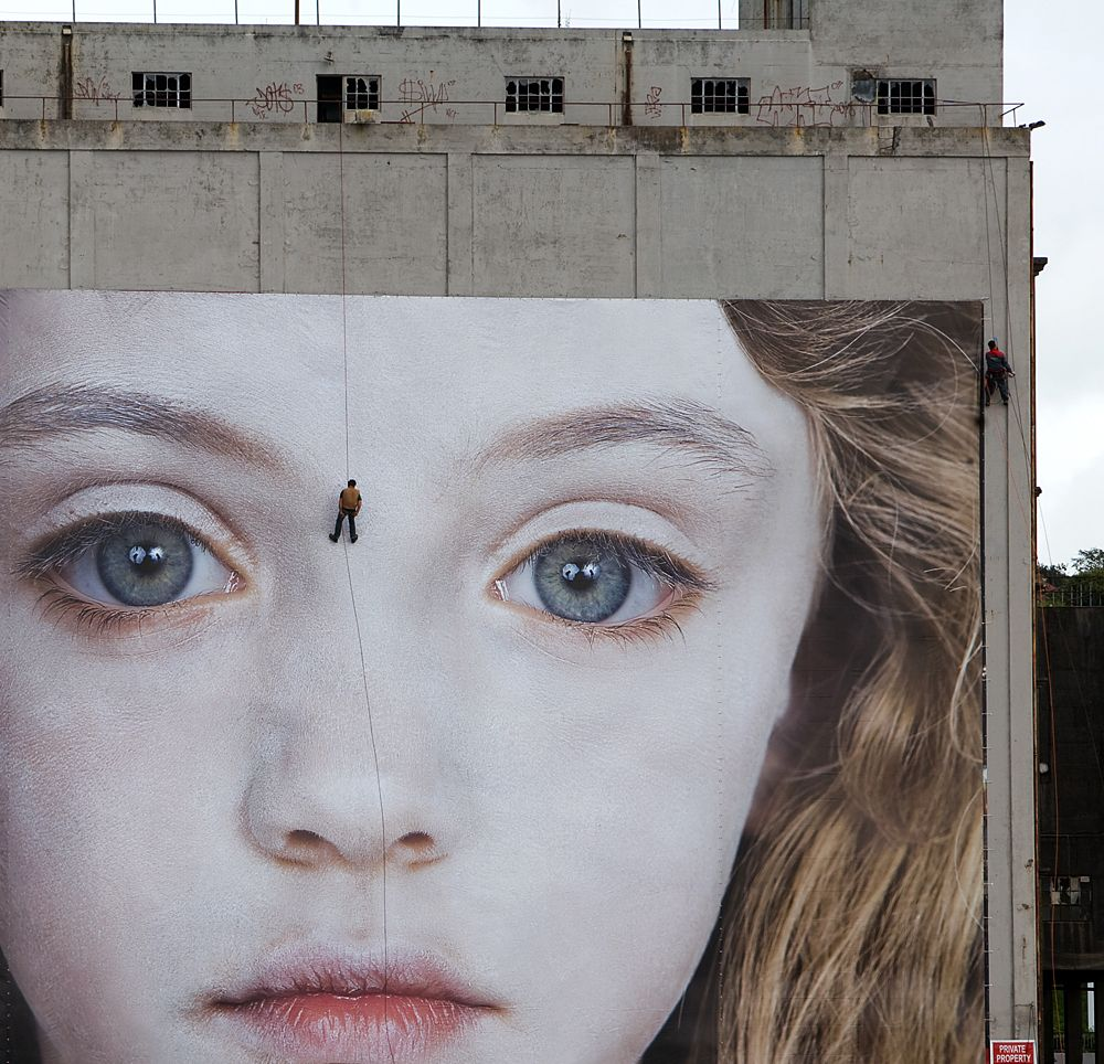 The last Child 2008  digital print  Installation in the city of Waterford