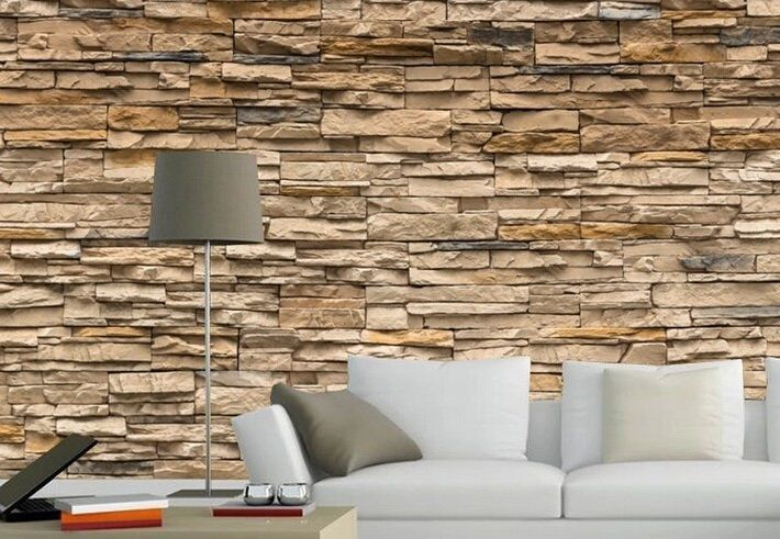 3d Brick Stone Style Wallpaper Bedroom Living Mural Roll Stone Wallpaper Brick And Stone Faux Stone Walls