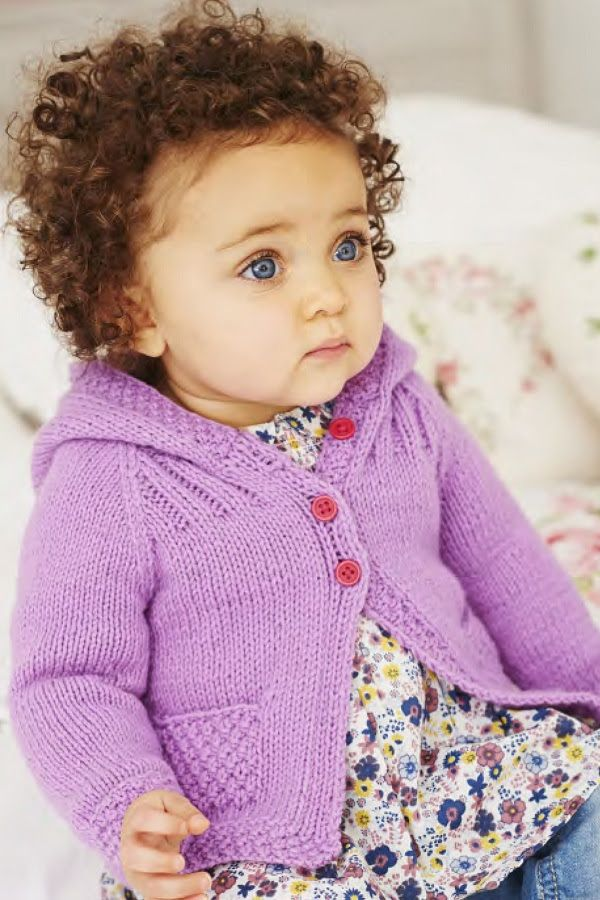0a80d1cb6e3c Knitting Pattern for Hooded Baby Cardigan -  ad Sweater versions ...