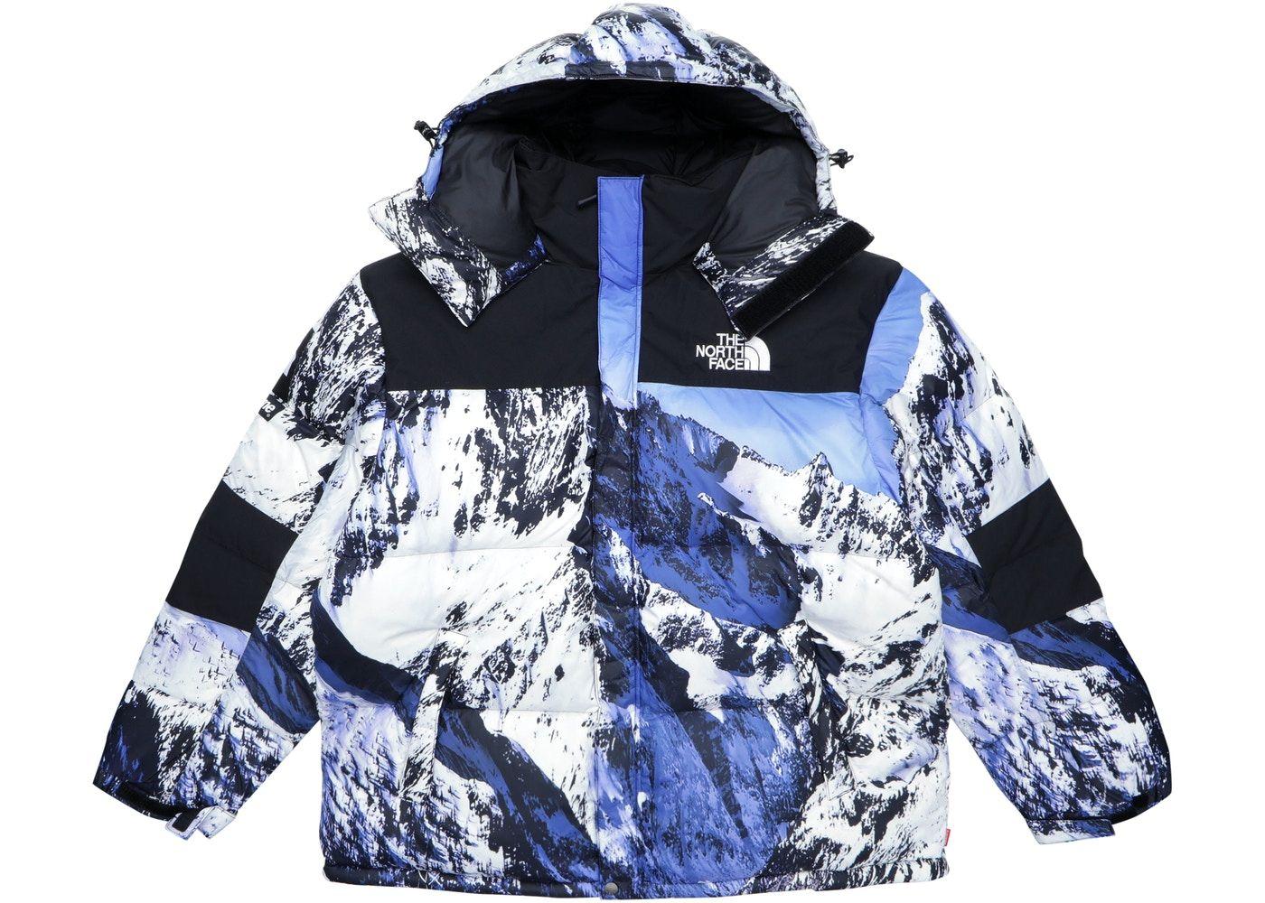 Supreme The North Face Mountain Baltoro Jacket Blue White The North Face Blue And White Jackets [ 1000 x 1400 Pixel ]