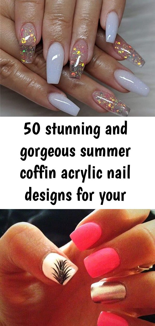 50 stunning and gorgeous summer coffin acrylic nail designs for your inspiration – page 14 of 50 2