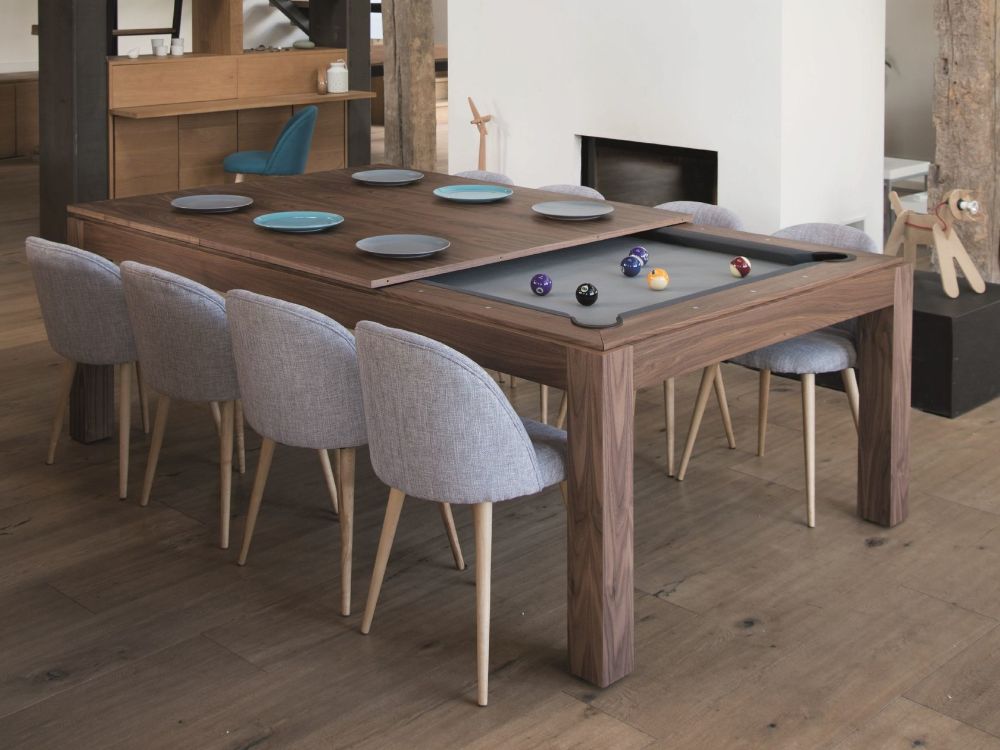Wood Line Stol By Fusiontables Saluc Pool Table Dining Table Pool Table Fusion Tables