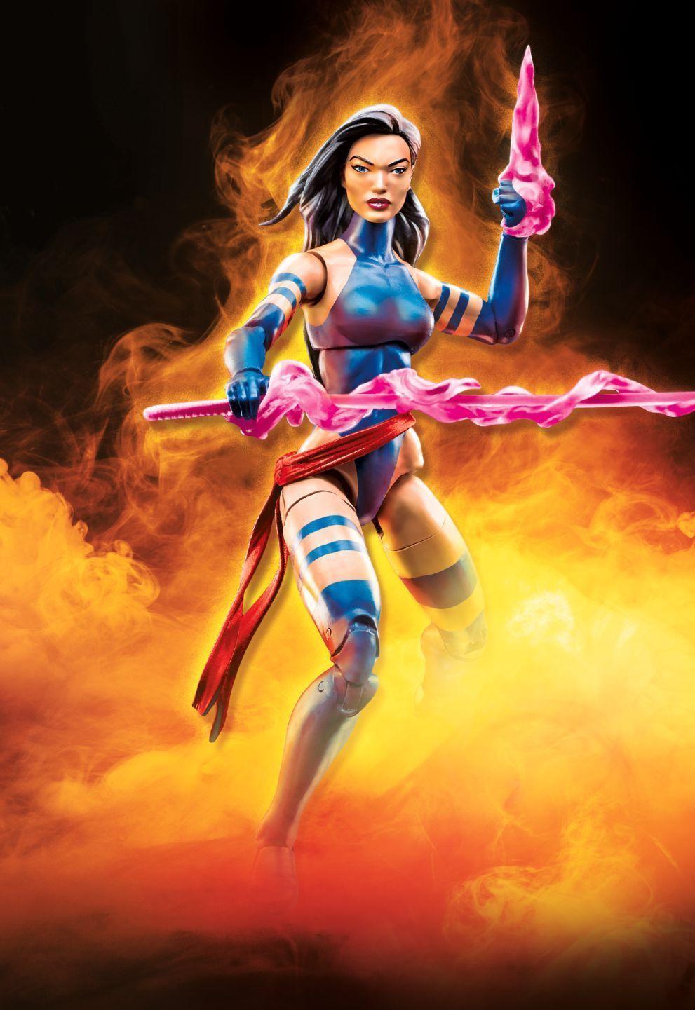 """Marvel Legends 6/"""" Inch Apocalypse BAF Wave Purple Hair Psylocke Loose Complete"""