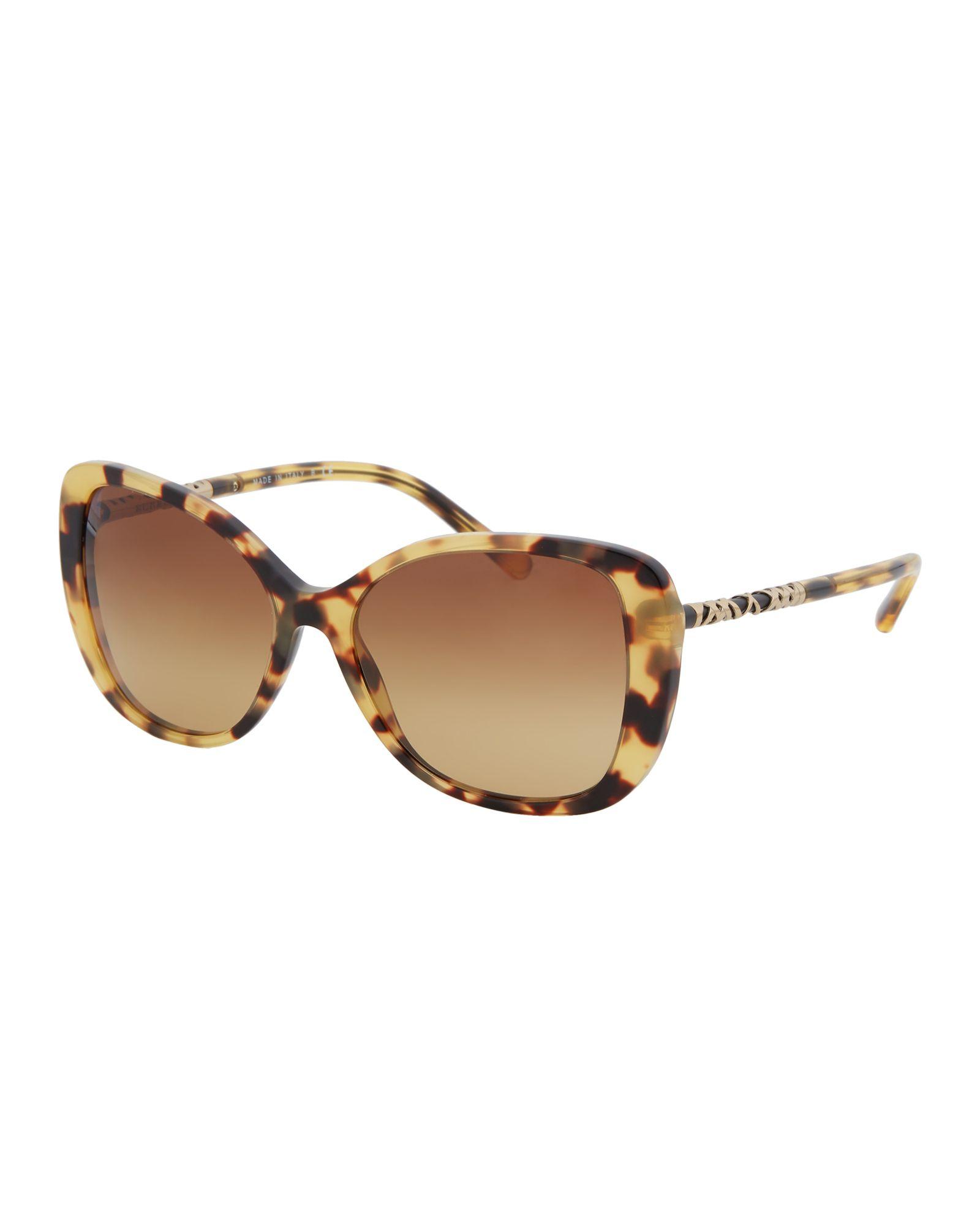 ae73546c2523 Burberry B 4238 Tortoiseshell-Look Butterfly Sunglasses