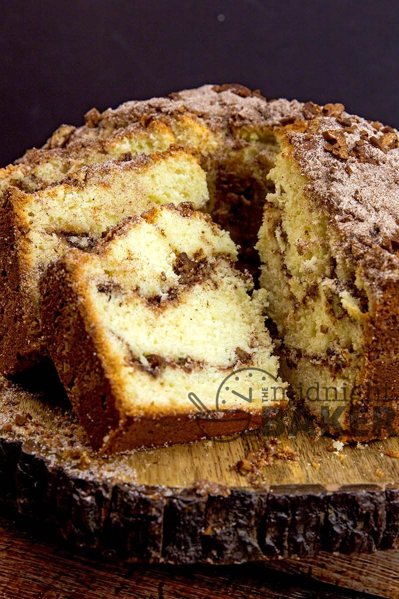 Sour cream keeps this delicious spicy and nutty coffee cake moist. Perfect for breakfast or any time. #sourcream
