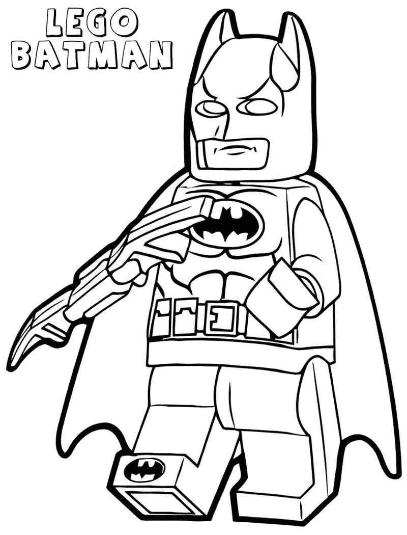 Lego Batman Coloring Pages Printable Sketsa Anak Gambar