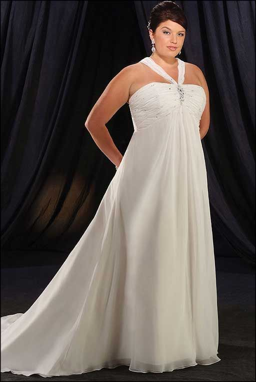 Simple plus size wedding dresses for second wedding plus for Simple second wedding dresses