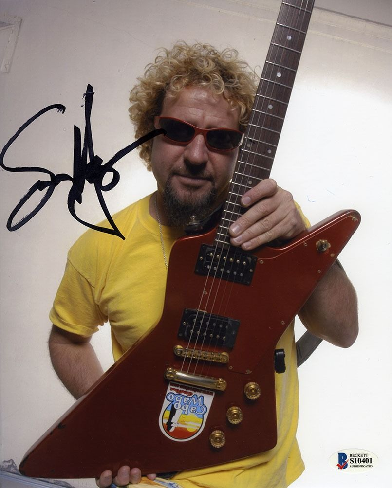 Sammy Hagar Signed 8x10 Photo Certified Authentic Beckett Bas Coa Aftal In 2020 8x10 Photo Photo Red Rocker