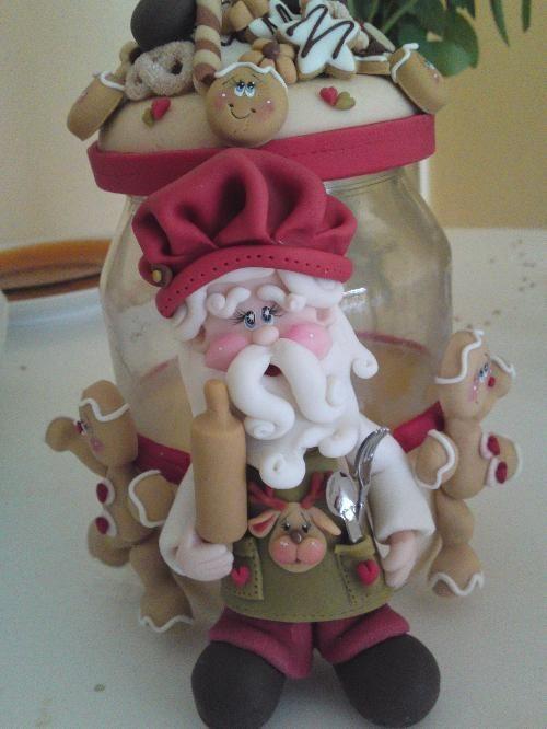 Pin de paola monta ez en navidad santa claus porcelana for Adornos navidenos en porcelana fria utilisima