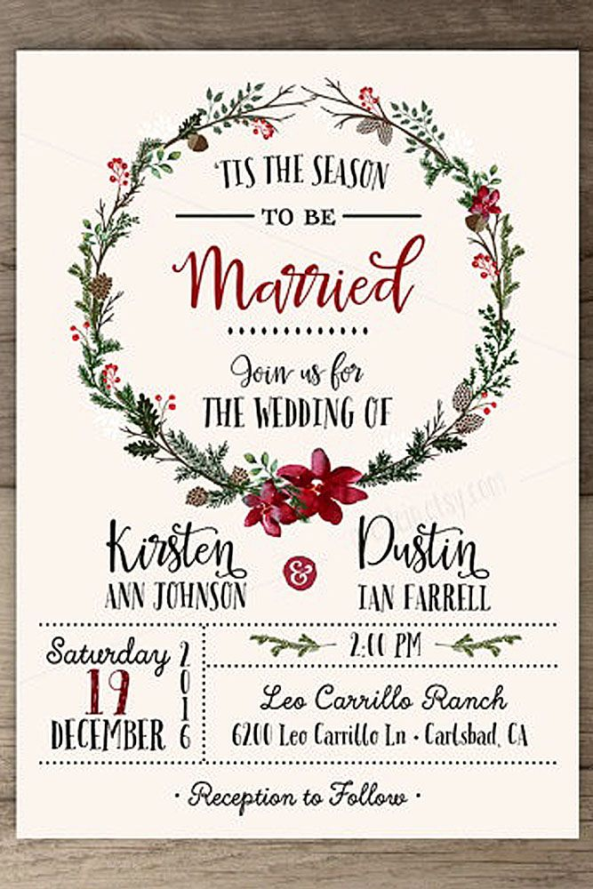 Christmas Wedding Invitations.24 Elegant Winter Wedding Invitations Elegant Winter