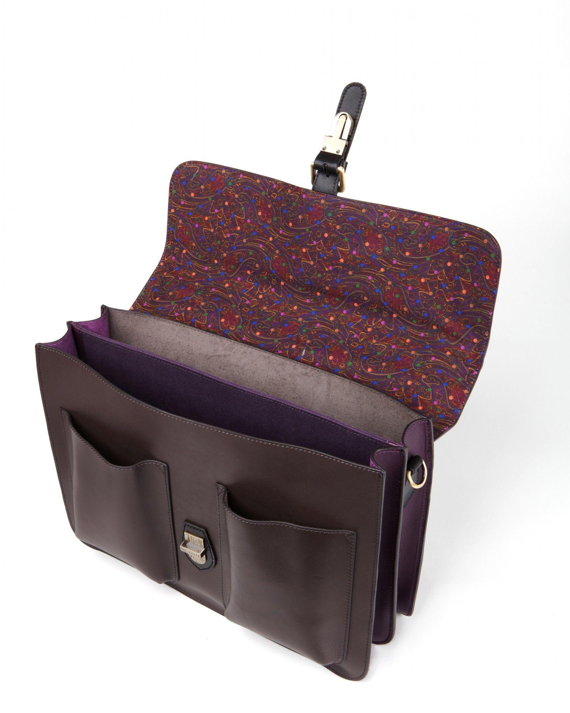 998075bd45cadb Mixed leather satchel - HARLEMM - Ted Baker