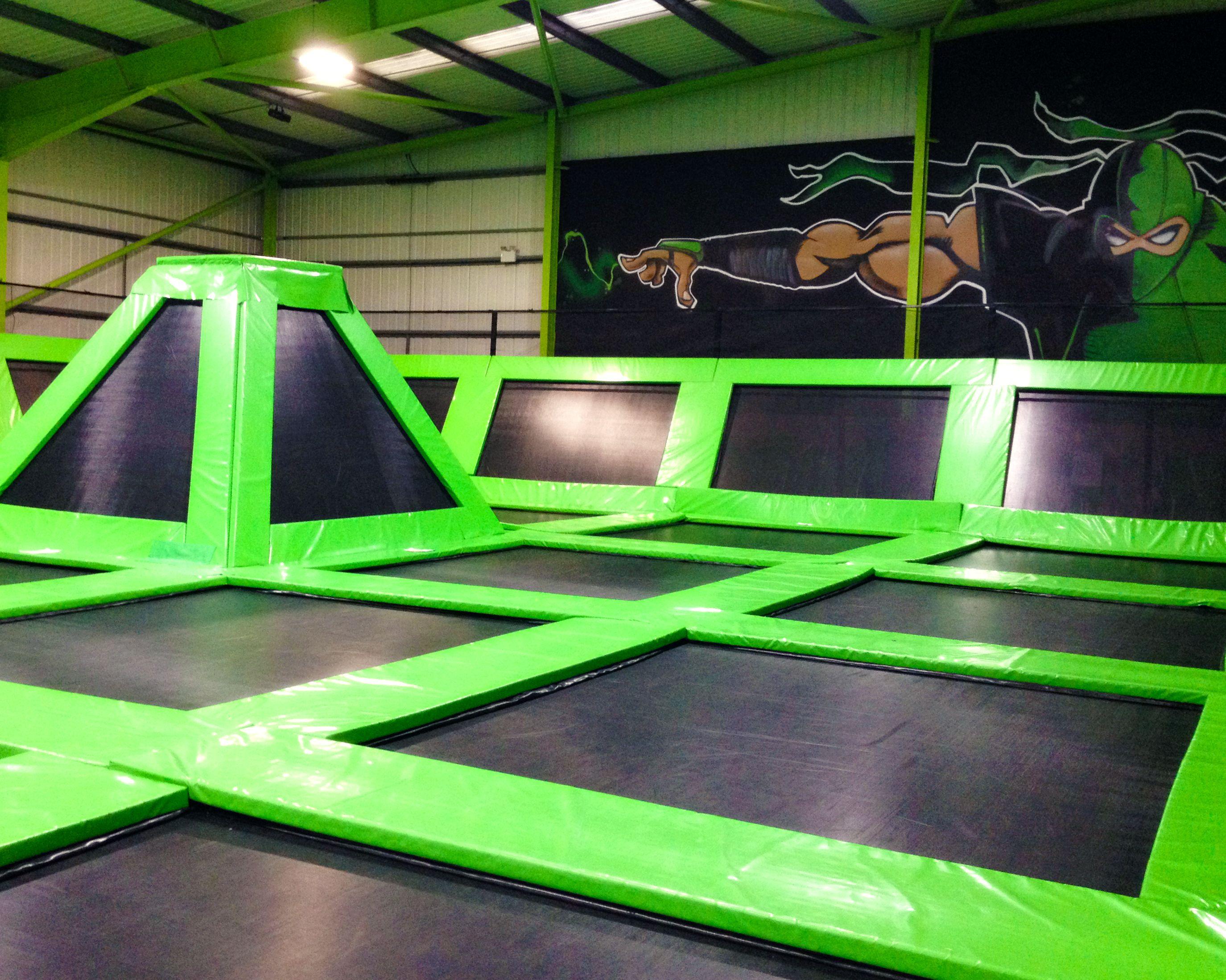 Flip out stoke indoor trampoline arena indoor trampoline