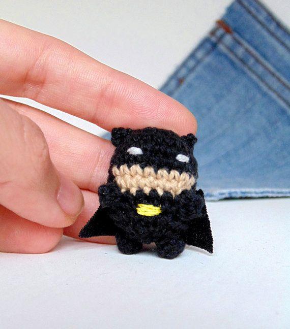 Amigurumi miniature Batman. Crochet Batman.Miniature Batman ...