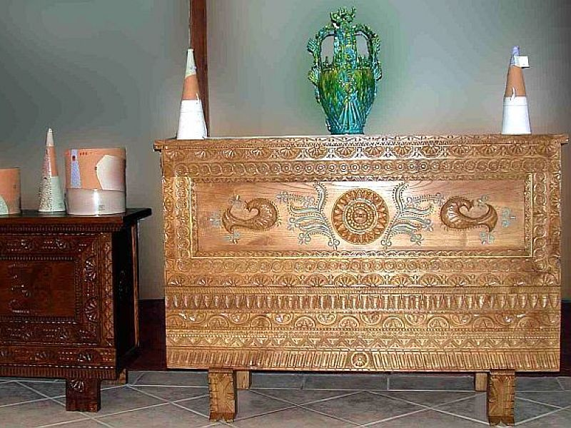 Mobili artistici ~ Artigianato artistico sardegna cassapanca mobili arredo