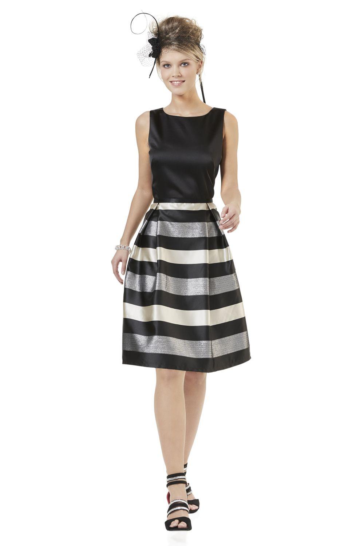 abendkleid schwarz silber von weise | mode bösckens