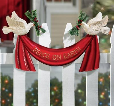 Peace on Earth Doves Outdoor Christmas Decoration