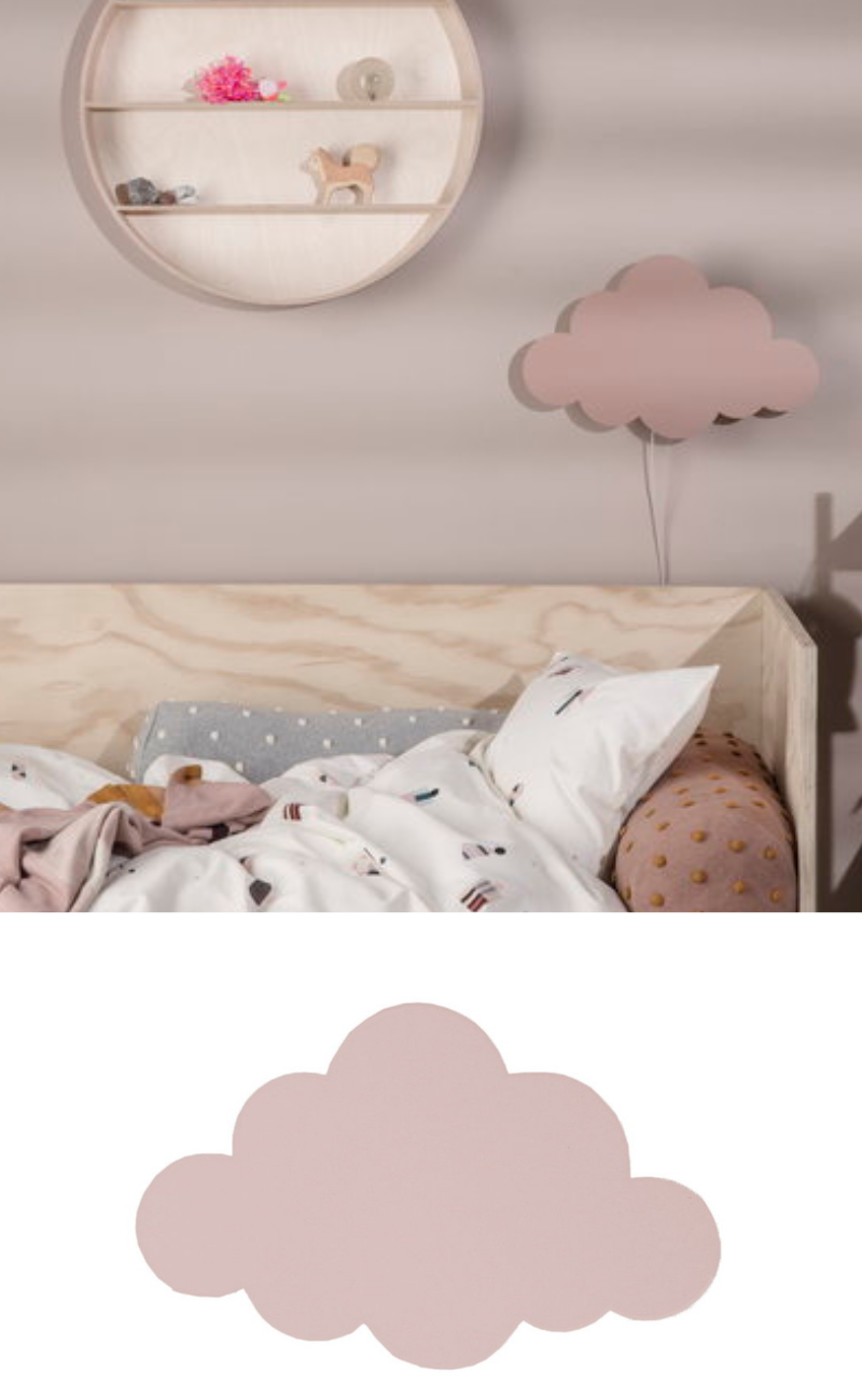 Cute Pink Cloud Wall Lamp / Girls Bedroom Lamp Idea ...