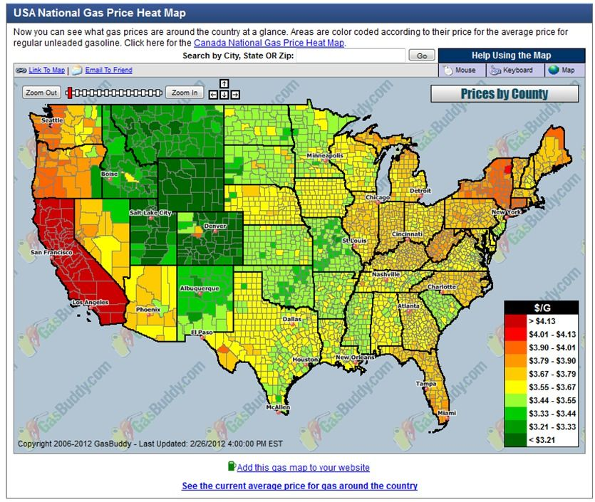 USA National Gas Price Map Gas Prices Map National Gas Prices - Ap map of us