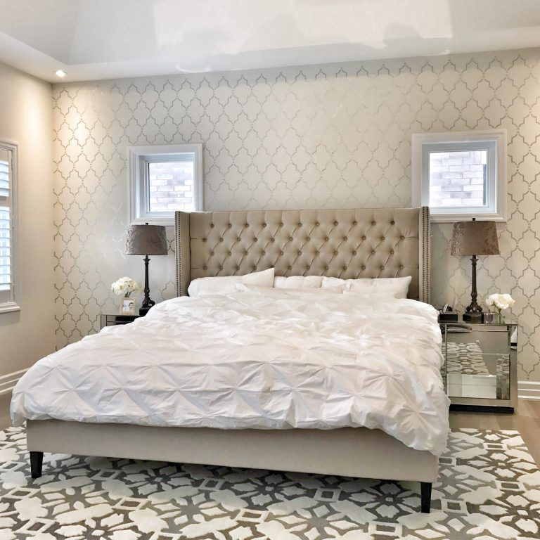 Painting Accent Wall Edges: Paint An Unforgettable Accent Wall Using A Stencil