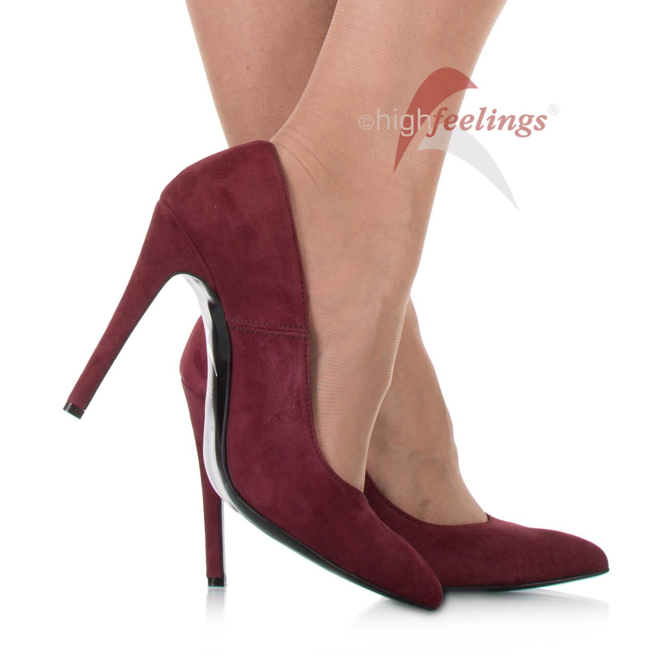 Pumps Weinrot Veloursleder | high feelings