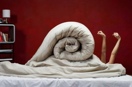 bed snail :)  This is me every morning in the winter.