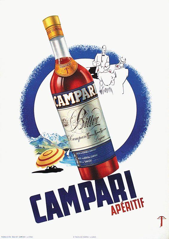 Campari - 1948 - | plakát | Pinterest | Italienische getränke ...