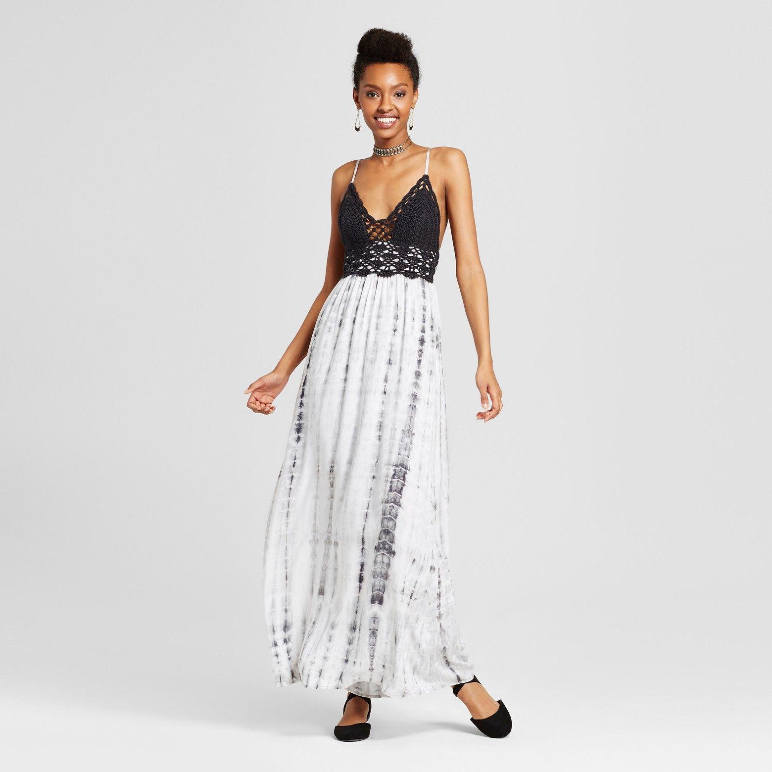 crochet bodice dress Dresses, Black maxi dress