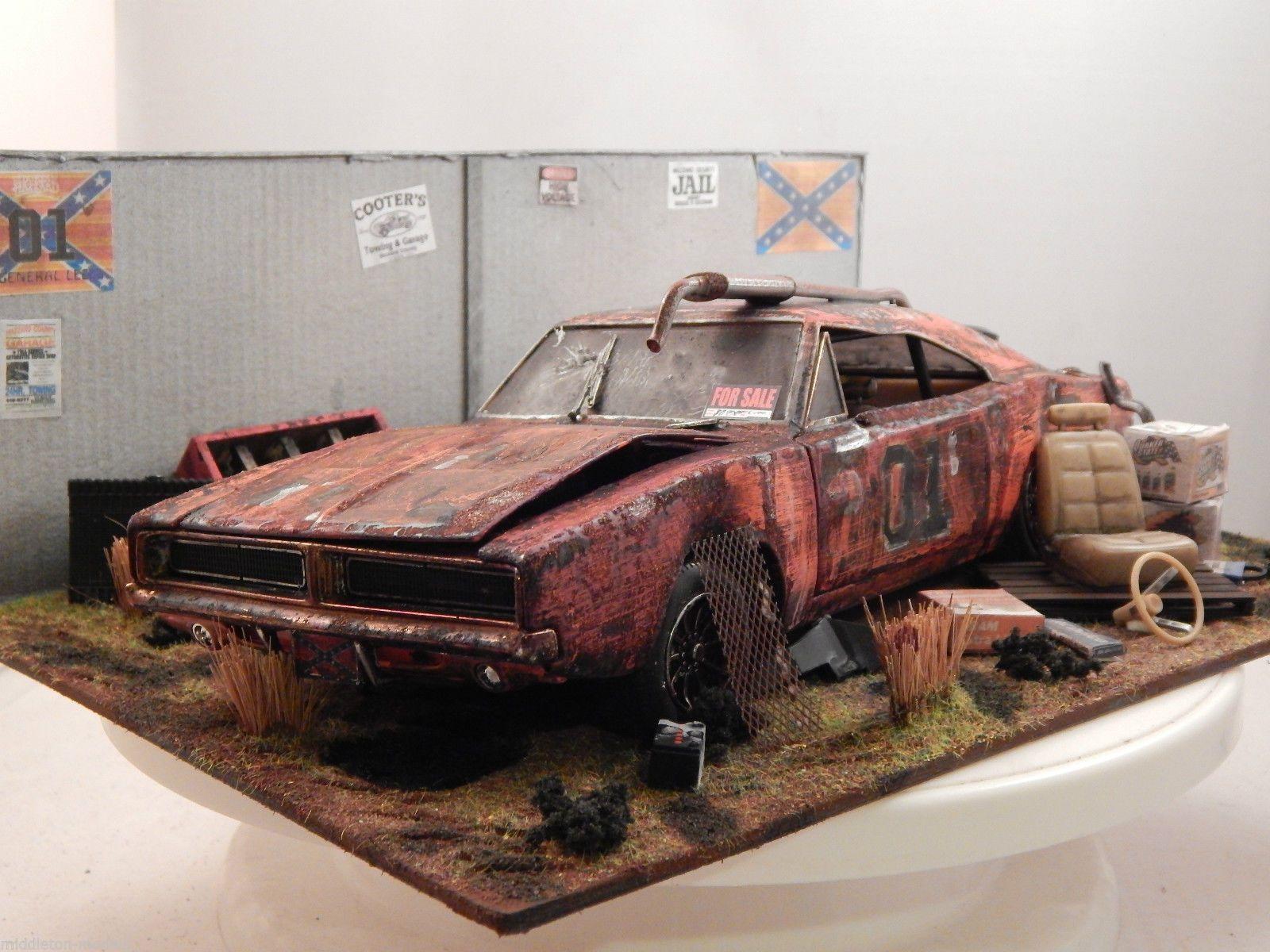 1/18 dukes of hazzard general lee barn find diorama junk yard code ...