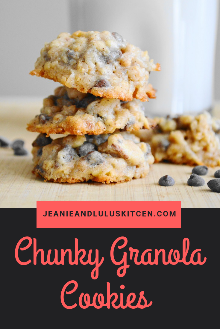 Chunky Granola Cookies   Recipe   Desserts   Granola ...