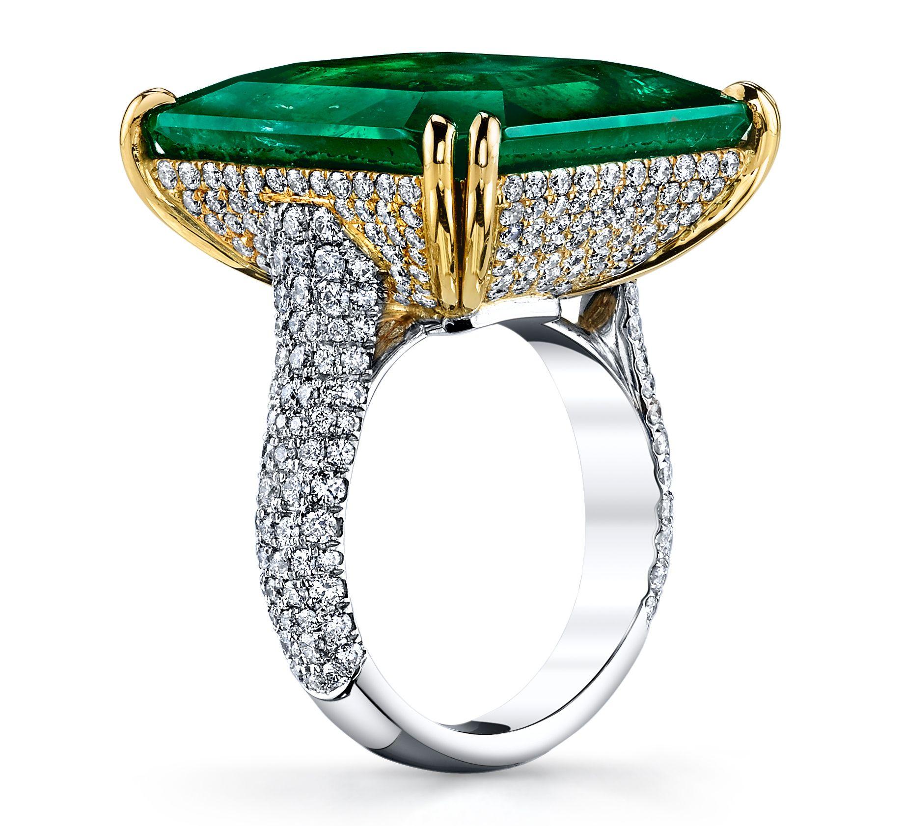 8718d52c68ead Joshua J emerald and diamond ring | JCK On Your Market | Emerald ...