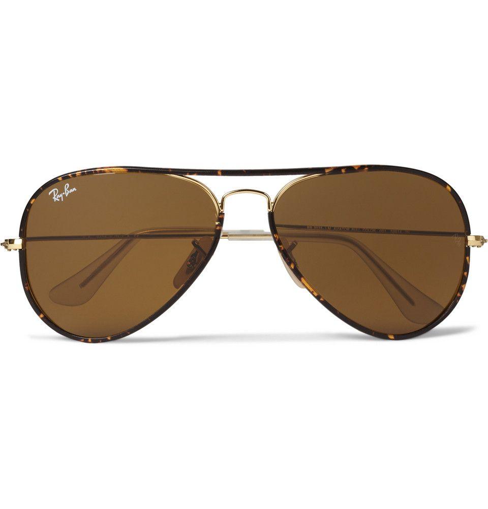 7574d9f2ae1f5 Ray-Ban - Tortoisehell Aviator Sunglasses   MR PORTER   Stuff I Want ...
