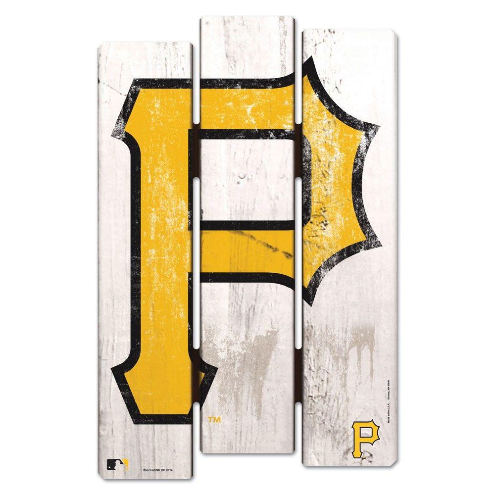 Pittsburgh Pirates P Logo Fence Wood Sign | Pittsburgh Pirates ...