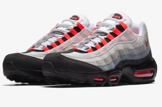 387b729b1e7205 Nike Air Max 95 Solar Red (2018) Returning Next Month