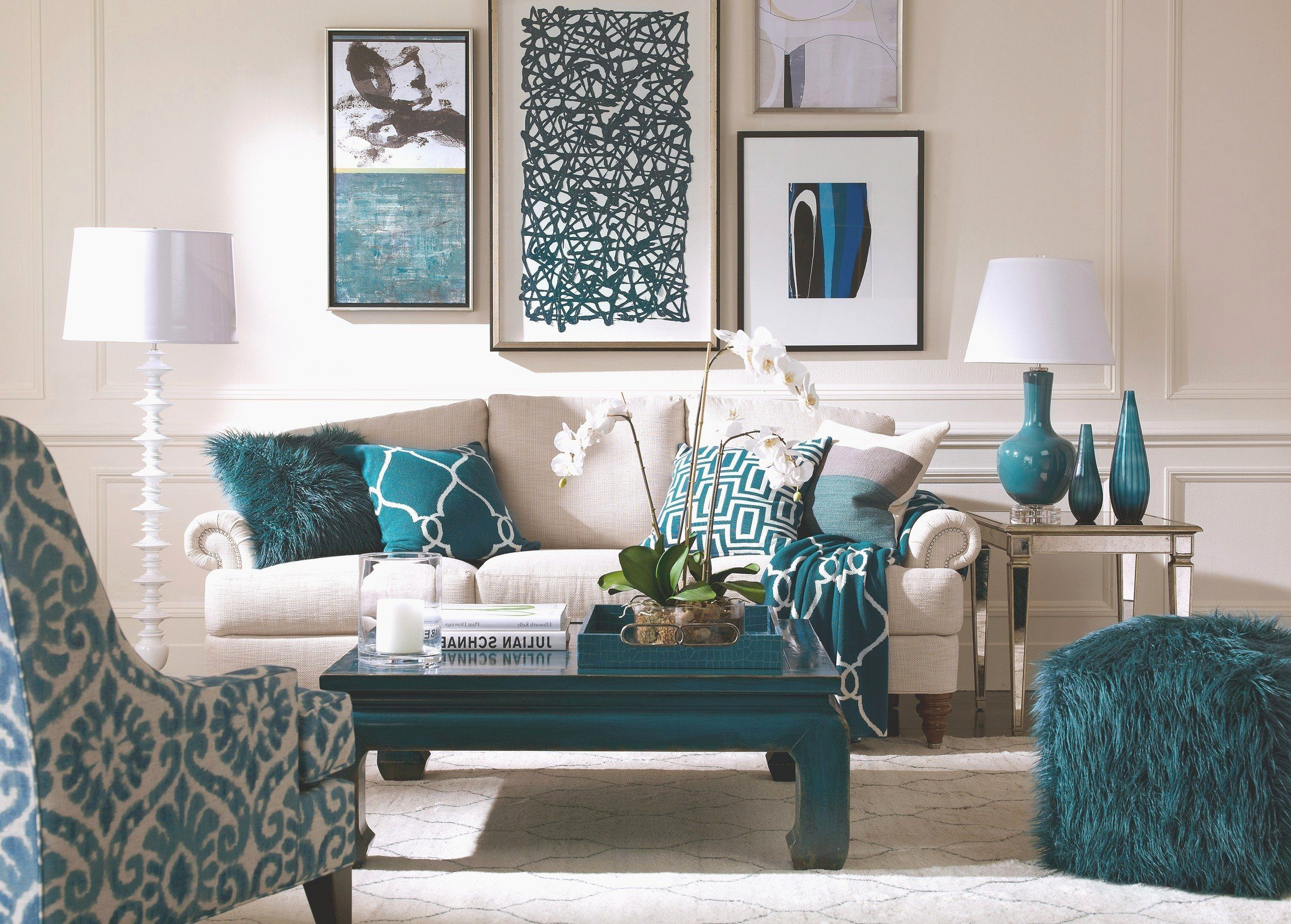 Cream And Teal Living Room Idea Beautiful Aqua Living Room