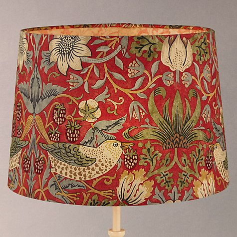 Where To Buy Lamp Shades Enchanting Buy Sanderson William Morris Strawberry Thief Lampshade Online At Decorating Inspiration