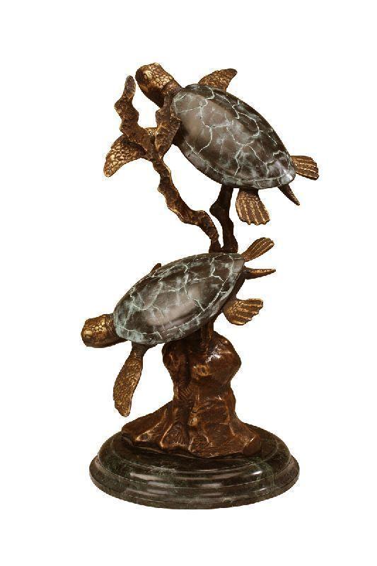 Big Sky Carvers Handcast RETIRED Wise Ones Sea Turtle Sculpture Pierce NIB
