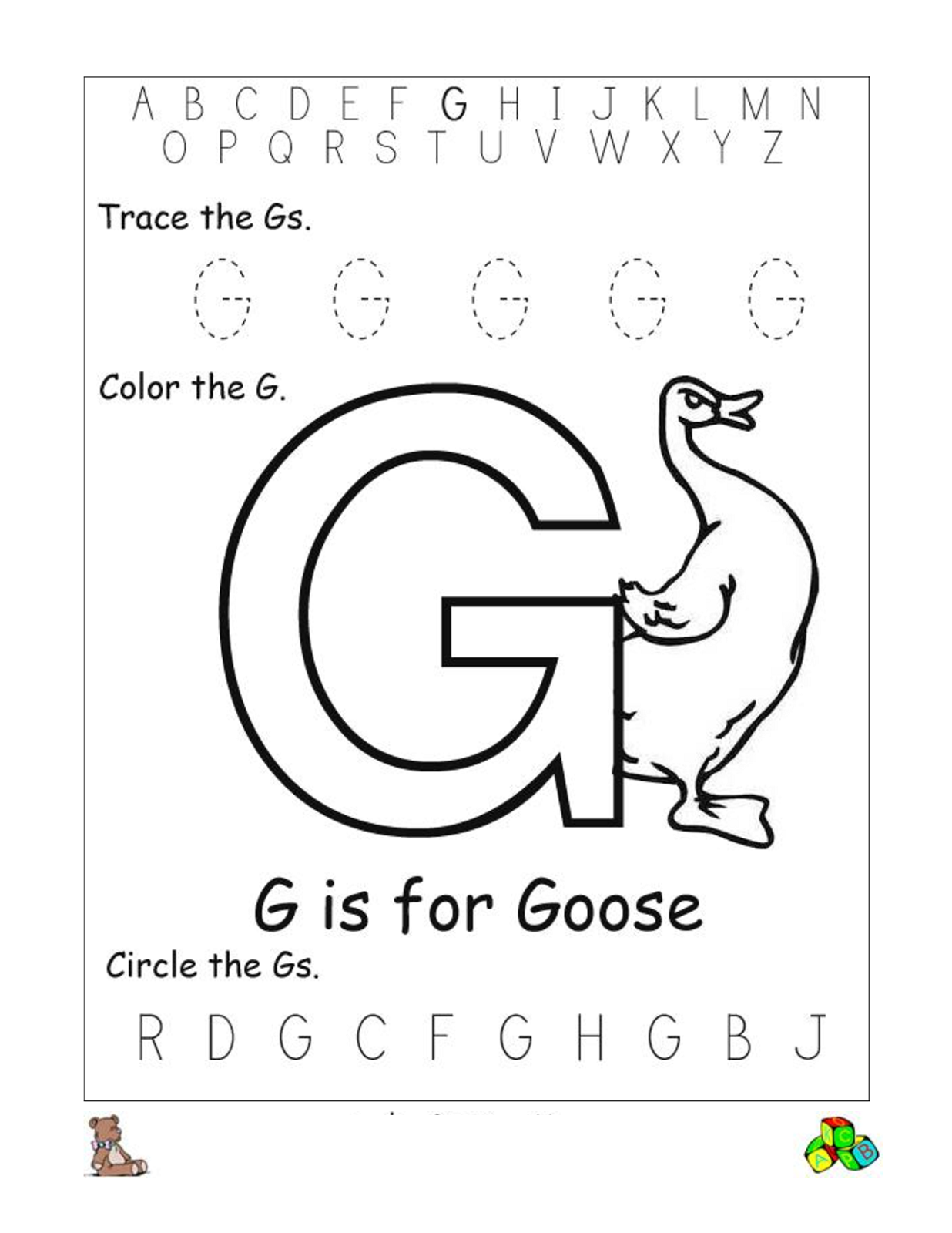 Free Alphabet Worksheets For The Beginners