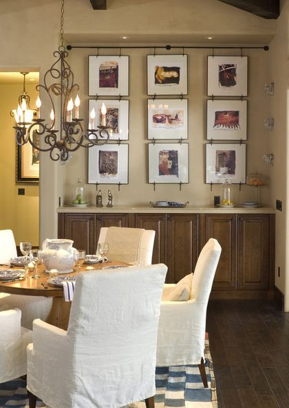 25 Stylish Ways Of Displaying Your Family Photos Rustic Dining Room Wall Decor Rustic Dining Room Classic Dining Room